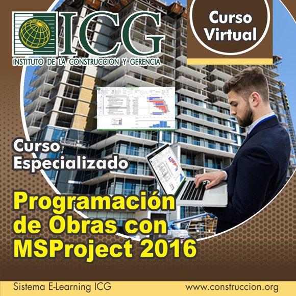 Programación de Obras con MSProject 2016