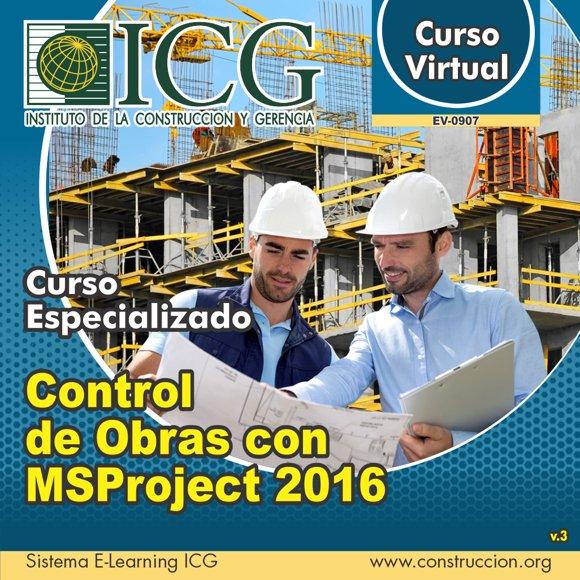 Control de Obras con MSProject 2016