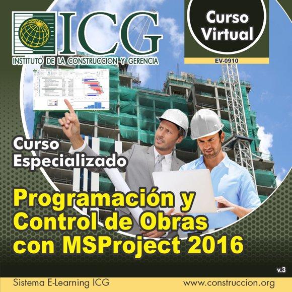 Programación y Control de Obras con MSProject 2016