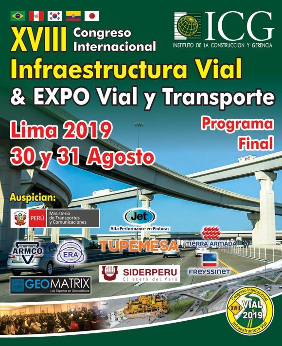 XVIII Congreso Internacional Infraestructura Vial & EXPO Vial y Transporte 2019