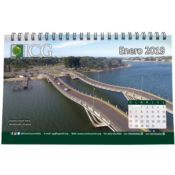 Calendario de escritorio ICG 2019