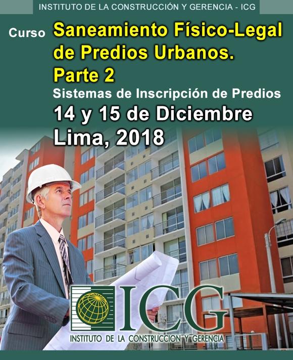 Saneamiento Físico-Legal de Predios Urbanos. Parte 2. Sistemas de Inscripción de Predios.