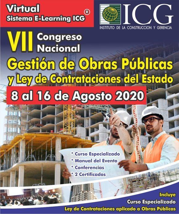 VII Congreso Nacional Gestión de Obras Públicas y Ley de Contrataciones del Estado