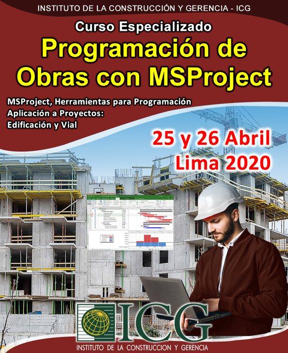 Programación de Obras con MSProject