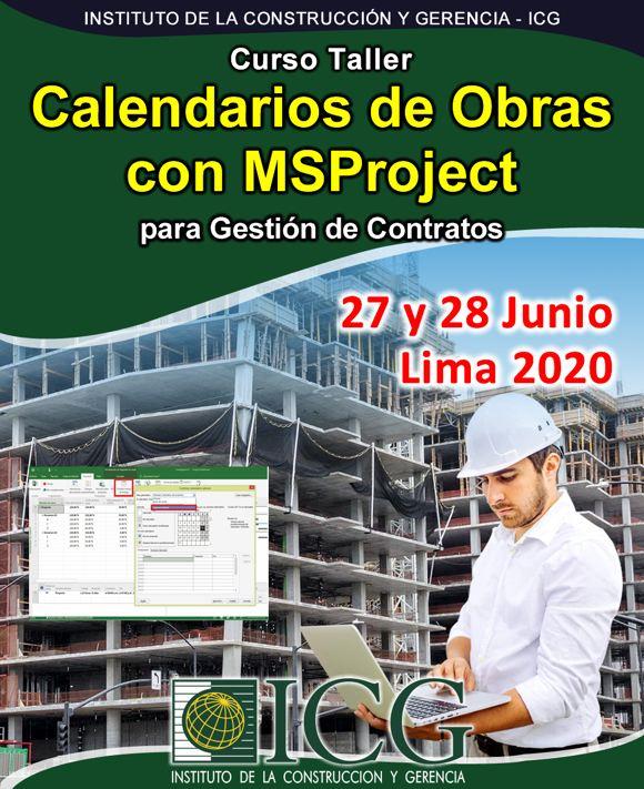 Calendarios de Obras con MSProject para Gestión de Contratos