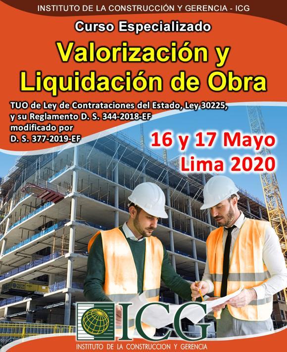 Valorización y Liquidación de Obra.